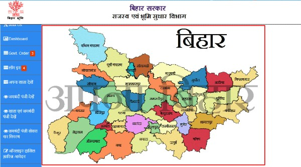 bihar land record district
