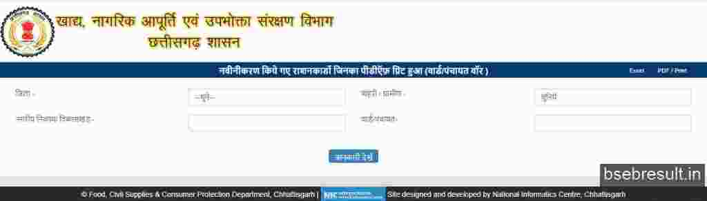 Chhattisgarh-Ration-List