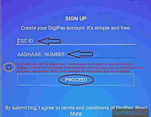 Digipay android Registration