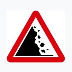 Falling Rocks Sign