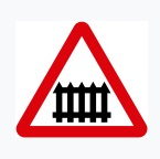 Guarded Level Crossing Ahead Sign
