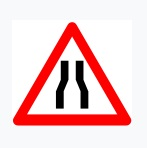 Narrow Road Sign