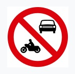 No Entry For Motor Vehicles Sign
