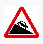 Steep Descent Sign