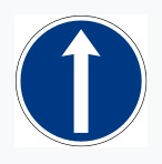 Straight Ahead Sign