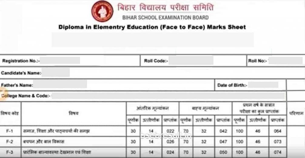 Bihar DELEd Result 2021 Released