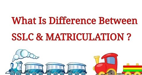 SSLC and Matriculation In RRB JE Means