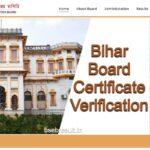 Bihar Board Certificate Verification Online